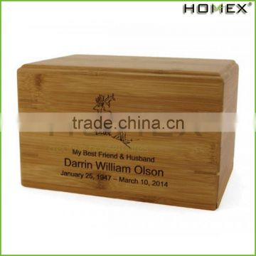 Bamboo cremation urn cremation boxes for ashes Homex BSCI/Factory