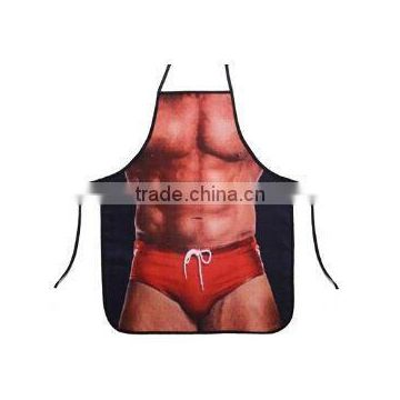 BSCI factory OEM new design of muscle man polyester apron