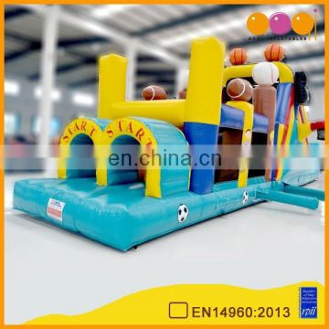 AOQI products 0.55mm PVC popular sport balls theme inflatable obstacle AQ1477