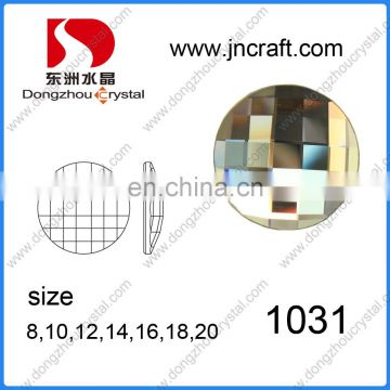 DZ-1031 round black diamond color flat back glass stones for jewelry