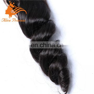 Brazilian Virgin Hair Aunty Funmi Hair Lace Closure 4*4 Size Free parting