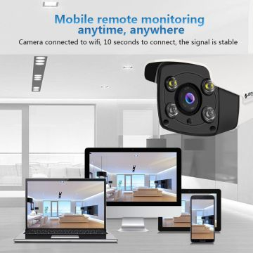 4.0MP Home Security Wireless WiFi IR Bullet IP Camera