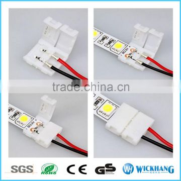 15cm extend cable 10mm 2pin one clip PCB FPC solderless connector for SMD 5050 LED strip light