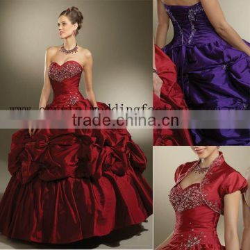 New style sweetheart beaded appliqued custom-made ball gowns with jacket CWFab3552