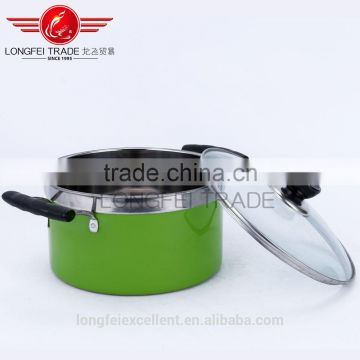 colorful design hot selling good quality chinese market cheap stainless steel cookware pot