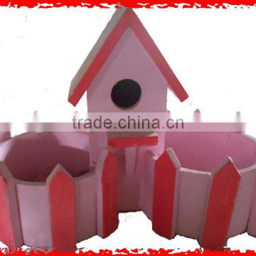 Pink house bilateral wooden faceplate