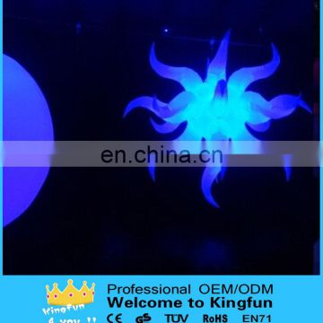 Hanging LED inflatable party star decoration