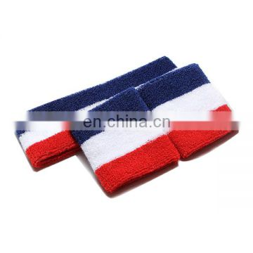 2017 Custom cheap wholesale terry cotton sport wristband