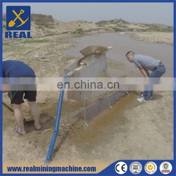 Rocker box with steam bed gold mining sluice