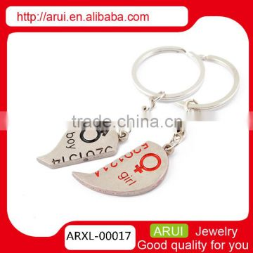 promotional gift couple heart keychains