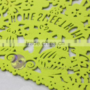 factory direct selling christmas laser cut felt placemats