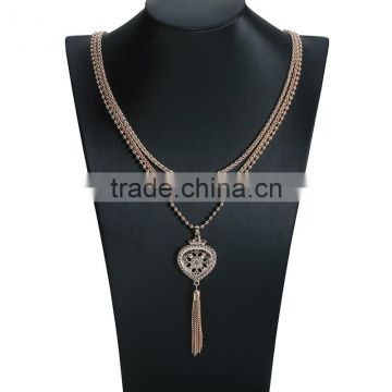 Big brand ZA multi chain pendant sweater necklace jewelry hot sale