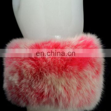Genuine rabbit fur clap ring fur cuff winter girl lady fur accessory for wrist