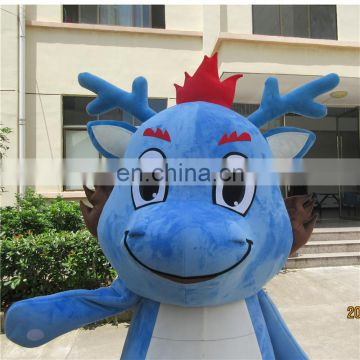 Adult sizes cartoon character blue dragon mascot costume for sale