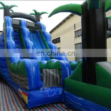 High quality 0.55 pvc bear slide inflatable water slide with pool for sale