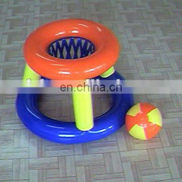 pvc inflatable basketball goal floating