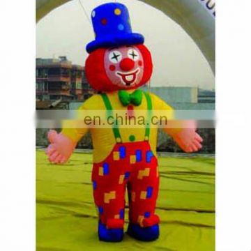 Inflatable clown character shape