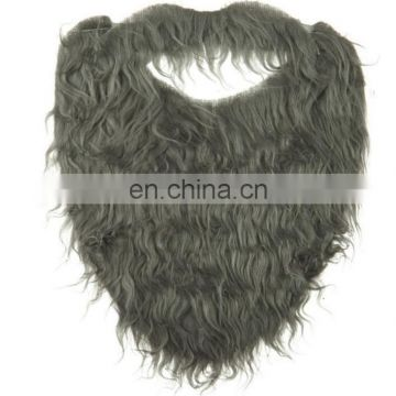 party furry brown and grey Beard or Mustache Combo for halloween festival use