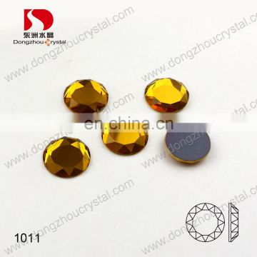 DZ-1011 round glass flat back rhinestone embellishments for jewelry making