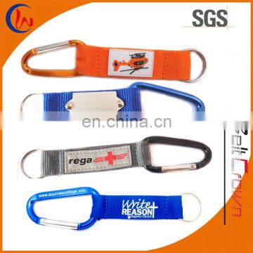 Fashion Short Carabiner Keychain with lanyard with keyring
