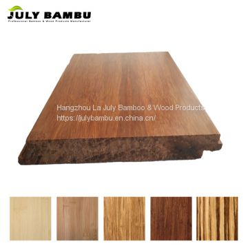 Tiger stripe strand woven bamboo wood flooring