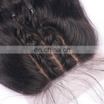 Super quality cheap original brazilian human hair malaysian silk base closures