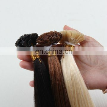 2018 Best Selling Remy Human Hair European Double Drawn Hair Extension Nail Tip