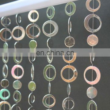 Astro Circles Silver Hanging Beaded Curtains