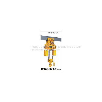 WOKAITE 10 ton electric chain hoist with chains