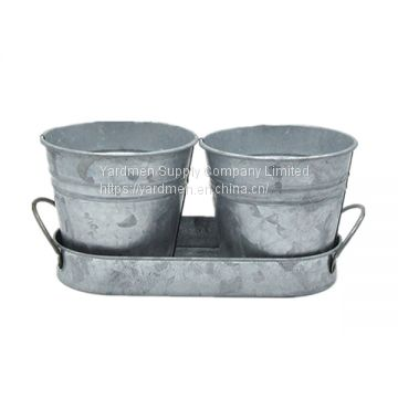2-3pot in one new design metal flower pot for home&garden decoration