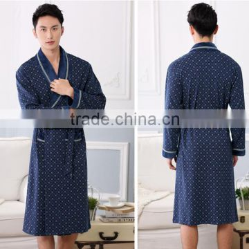 NEW Cotton Nightwear for men Spring and autumn Long Sleeve Sleep Gown Men Lounge Robes Plus size