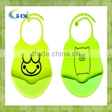 Fashionable Eco-friendly Silicone Water Proof Silicone Baby Bib