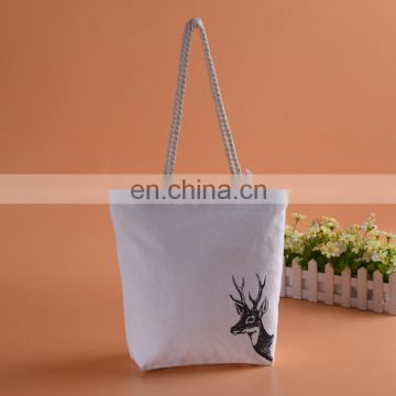 Custom printed wholesale cheap shopping cotton canvas tote bag