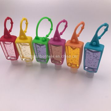 30ml pocket hand gel instant waterless antibacterial hand sanitizer bottle silicone holder
