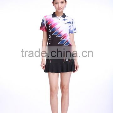 new style Professional customized ,Badminton wear shirt WS-16201