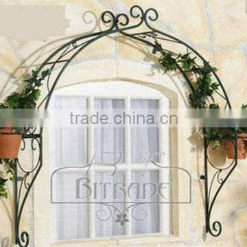 Metal outdoor window decor
