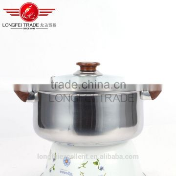 yiwu insulation handle cheap hot sale stainless steel cookware soup pot