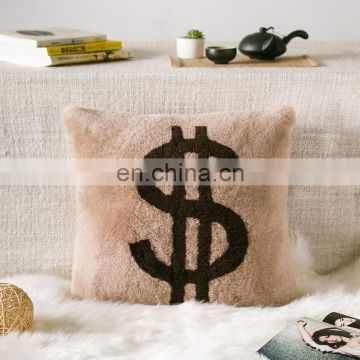 New Special Wool Pillow Shearling Sheepskin Lamb Fur Cushion