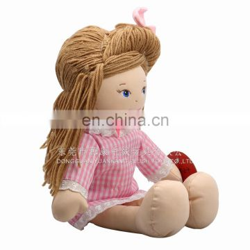 2016 battery ICTI stuffed human custom plush doll clothes for promotion
