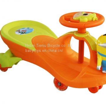 Plastic swing car baby wiggle car ride on cars with Minion toys