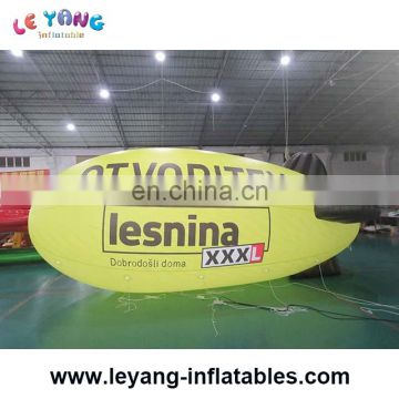 Advertising and attractive inflatable blimp model with printing with led light, airship
