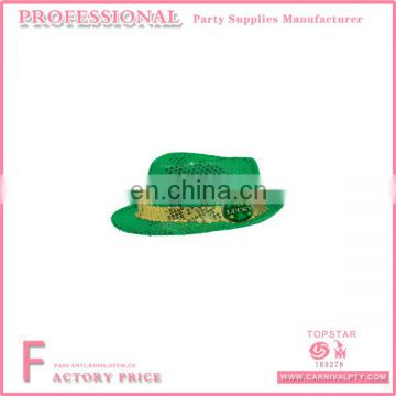 adae745d917fc St. Patrick s Day China Wholesale Irish Green Shamrock Sequin Cowboy Hat  Lucky Bulk Top Hat