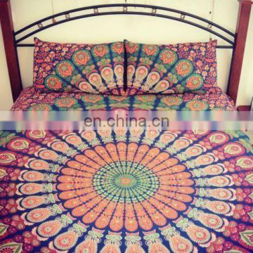 Blue Mandala Duvet Cover Throw Cotton Doona Cover Indian Reversible Quilt Cover SSTH54