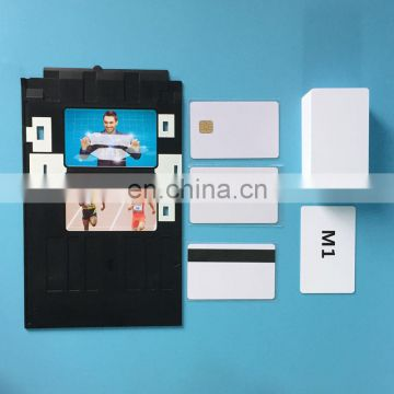 Manufacture Provide Inkjet PVC White Card for business card /name card