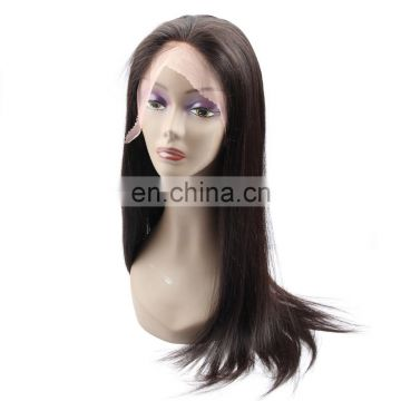 360 lace frontal wig sewing machine brazilian human hair wig for black women cuticle aligned hair