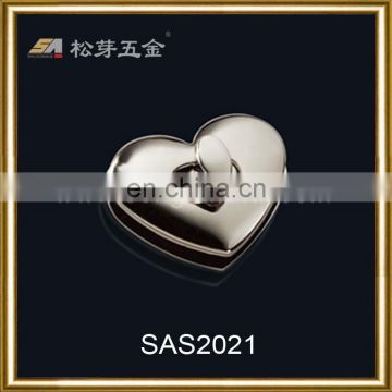 Decotation high quality handbag heart lock