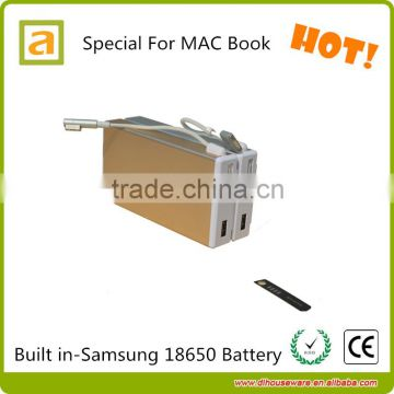 Large Capacity 15600 mah Notebook Power Bank New Arrival Portable Power Bank for Mac Book