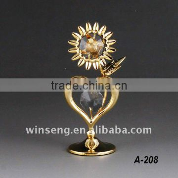 24k gold plated sunflower for Home Decor