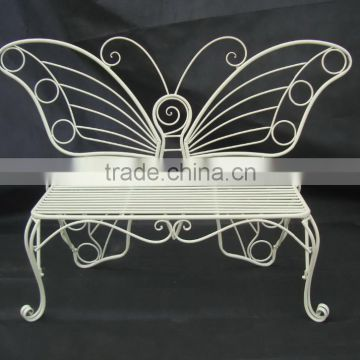 metal butterfly bench for garden