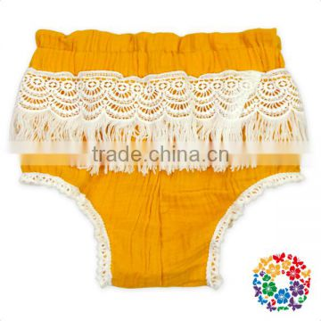 Infant And Toddler Design White Fringe Diaper Cover Soft Material Kids Bloomers